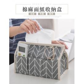北歐風棉麻紙巾盒-2入