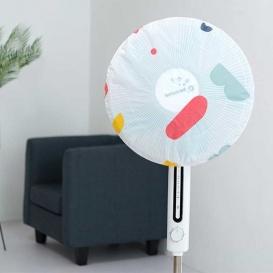 日系清新花漾風扇防塵罩-2入
